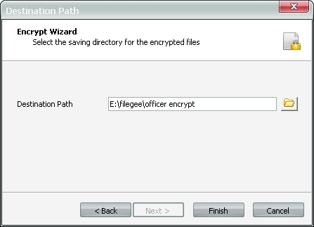 Save Location of Encryption Tool