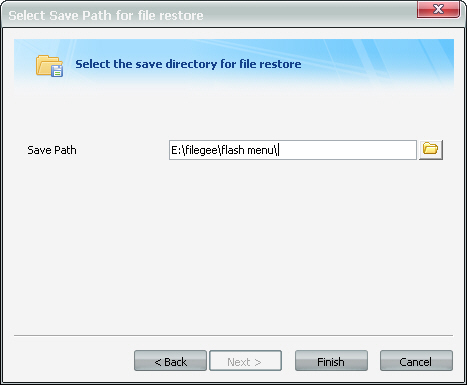 Specify the Save Directory for File Recovery