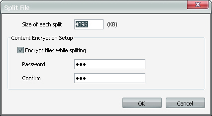 File Split Settings